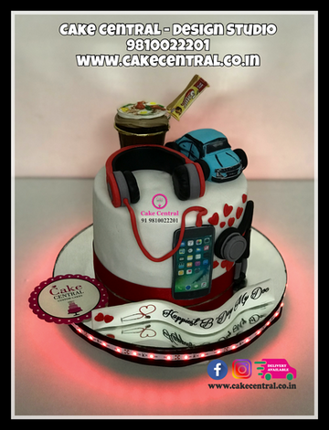 Beats HeadPhone Cake Delhi