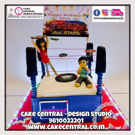 WWE Cake Delhi | Wrestling Cake Delhi Online with Delivery