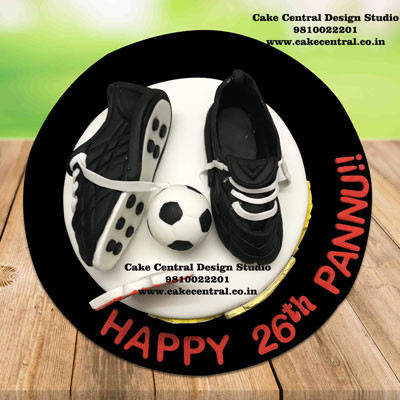 Football boots Cake in Delhi Online - Soccer Shoe Cake in Delhi