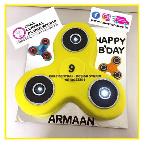 Fidget Spinner Birthday Cake in Delhi Online - Cake Central - Design Stuio , New Delhi , Delhi