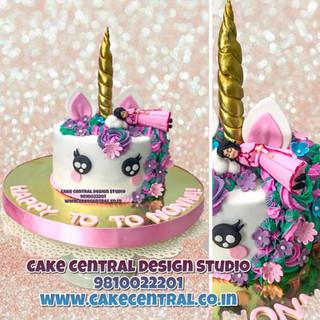 Unicorn Cake with Sleep Birthday Girl in Delhi Online