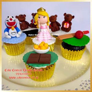 Princess , Teddy , Doremon Cupcakes in Delhi Online