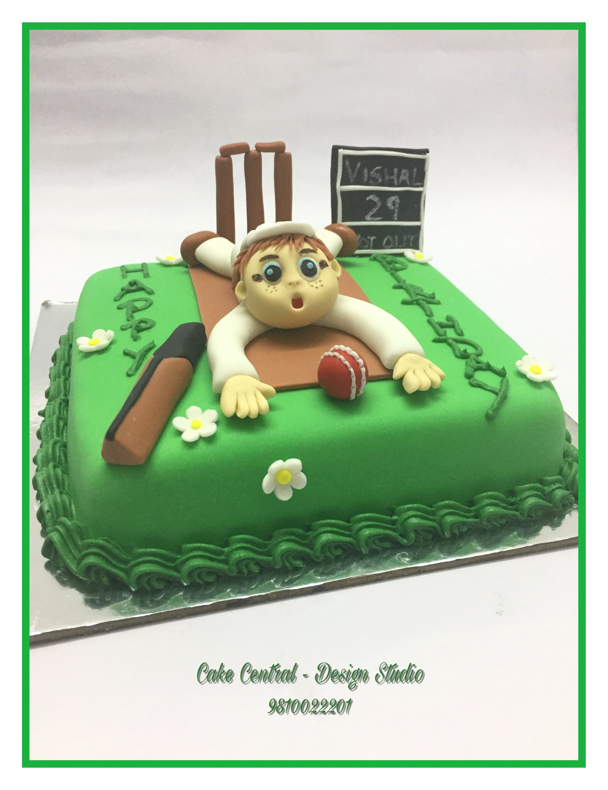 Cricket Themed Birthday Cake Delhi NCR