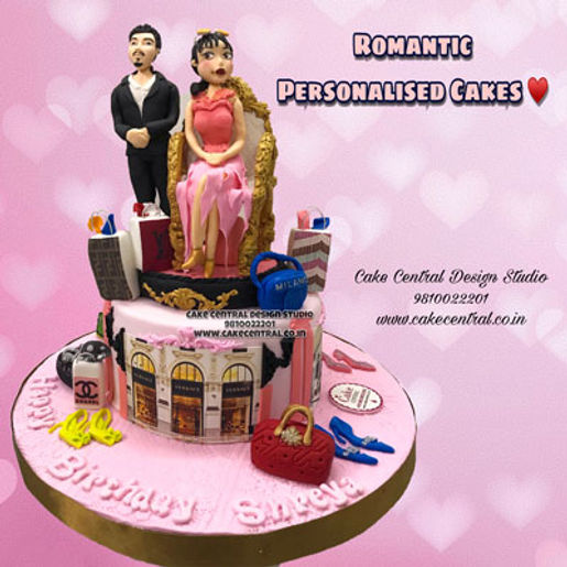 Custom Theme Romantic Birthday Cakes in Delhi Online with Delivery