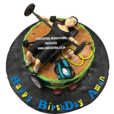 Best Body Builder Gym Cake in Delhi NCR