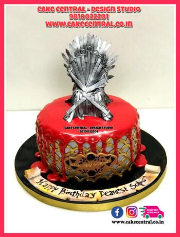 Iron thone_Birthday Cake_Game_Of_thrones_Delhi_Online