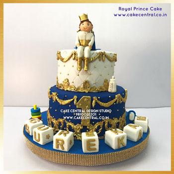 Royal Blue Prince Cake Delhi Online