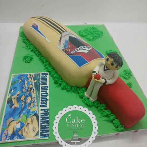 Cricket Bat Cake Delhi | Cricket Bat theme Cake Online with Delivery in Delhi , Gurgaon & Noida
