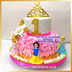 Disney Princess 1st Birthday Cake Delhi Online