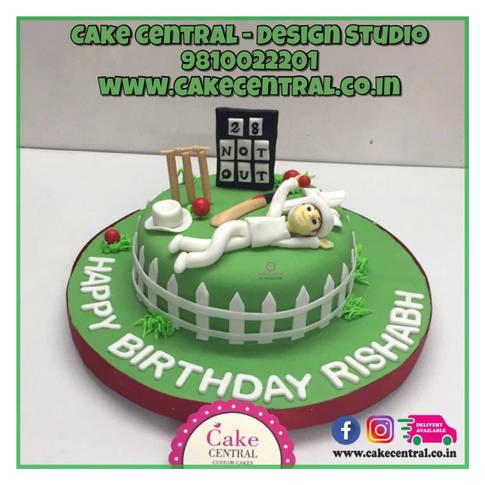 Cricket theme Cake Delhi | Cricket Pitch Cakes | Birthday Cake for a Cricketer  Online in Delhi , Noida & Gurgaon