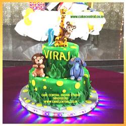 Animal in Jungle 1st Birthday Cake Delhi