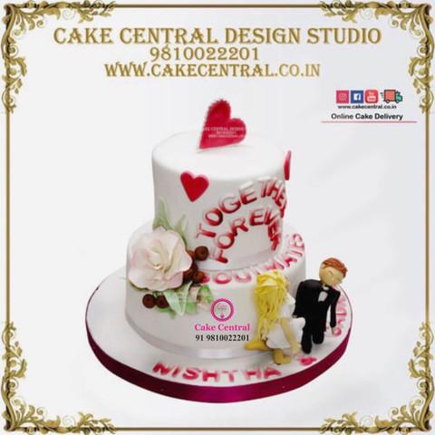 Together Forever Wedding Cake Delhi Online