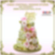 3 Tier Floral Anniversary Cakes of Cake Central Design Studio.Delhi
