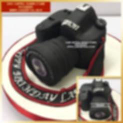 Camon Camera Shaped Cake for ather's Birthday