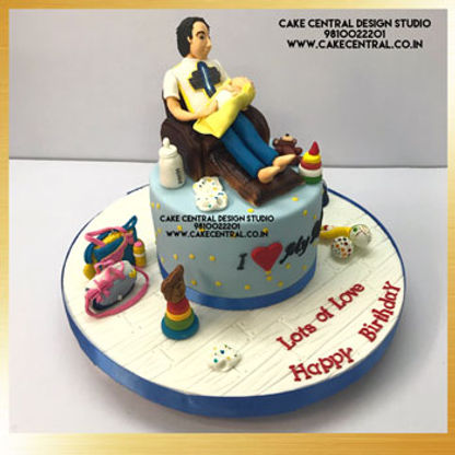 New Dad _ love you papa theme Cake in Delhi Online