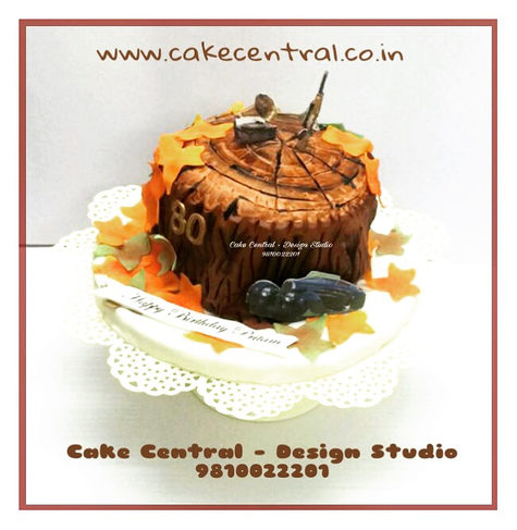 Tree Log Wood Shaped Birthday Cake Delhi