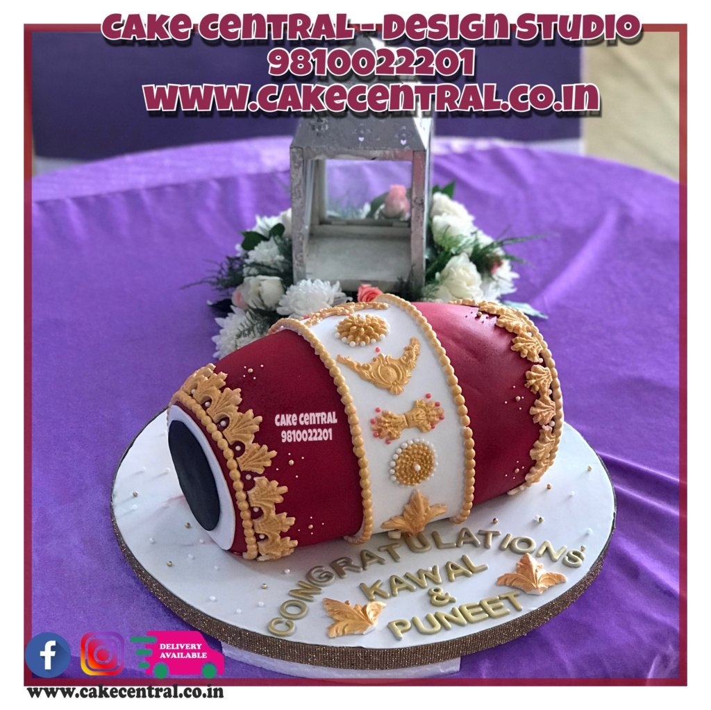 Dhol Wedding Cake in Delhi Online