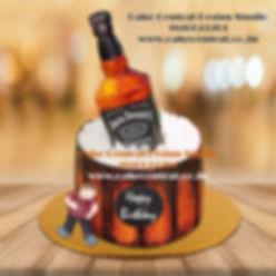 jack daniel cakes in delhi - Funny JD Whiskey Cake Design