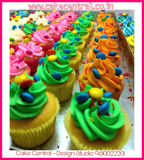 Designer Cupcakes for Birthday