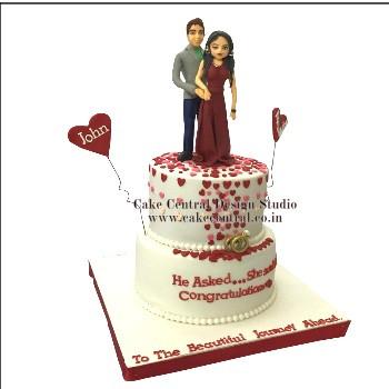 Romantic Wedding Cake in Delhi Online