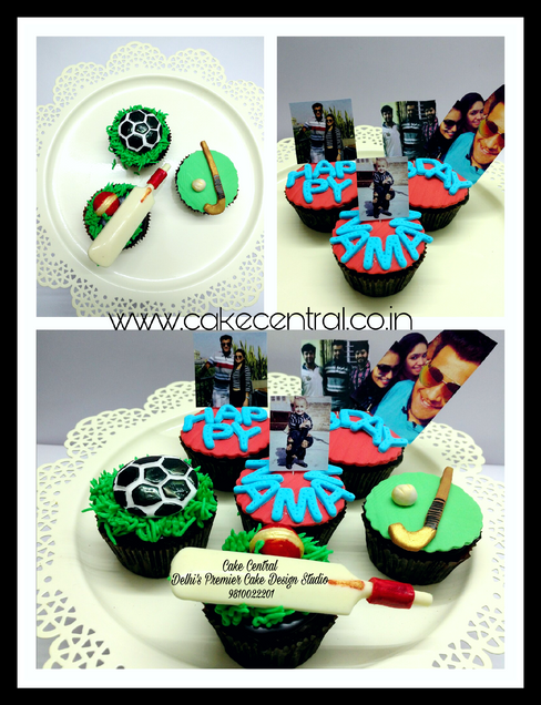 Sports Themed Designer Cupcakes for Birthday by Cake Central - Premier Cake Design Studio Delhi , New Delhi