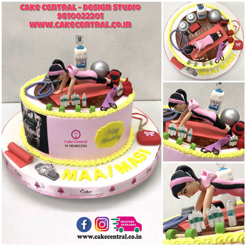 Gym Theme Cake for Girls in Delhi Online