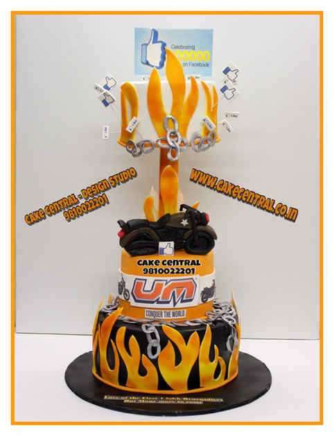 Bike/Car 4D Cake Delhi | Car / Bike / Fire themed cake delhi | Online Cake Delivery South Delhi, Noida , Gurgaon