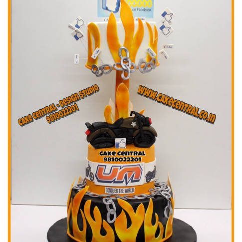 Bullet Bike Cake Delhi | UM Racing Bake Cake | Sports Bike Cake Delhi