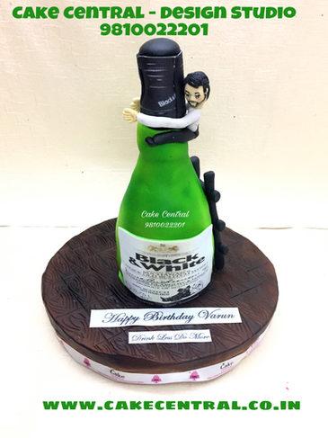 Bottle shaped cake in Delhi