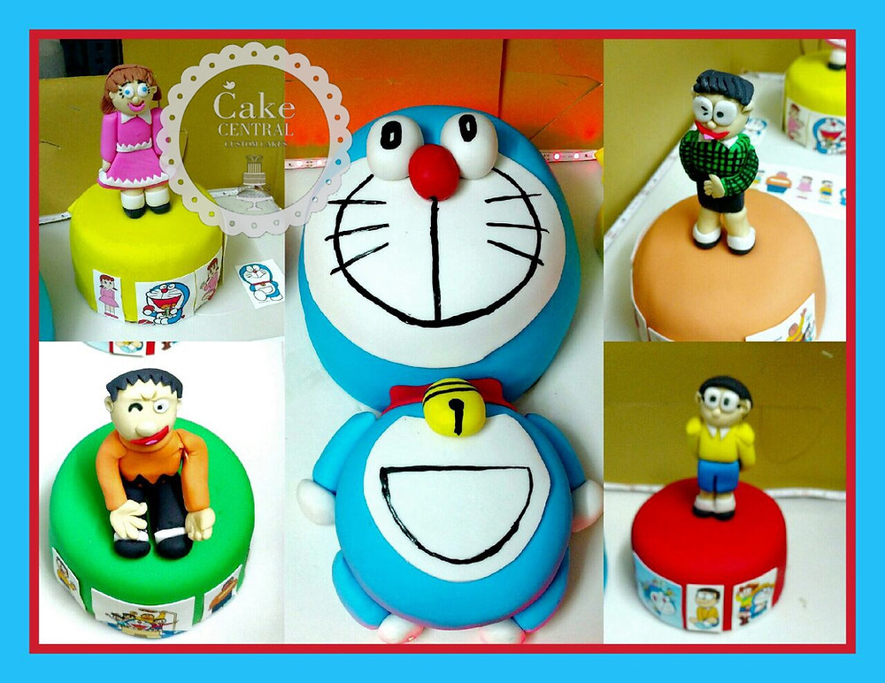 Doraemon & Friends Birthday Cake , 3D Designer Fondant themed Doraemon Cake by Cake Central Delhi . New Delhi