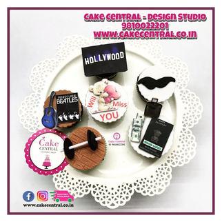 Gym , Farewell , Love & Passport Themed Customized Cupcakes Delhi NCR  | Order Personlized Cupcakes Online Delhi NCR -Cake Central - Premier Cake Design Studio , New Delhi , Delhi