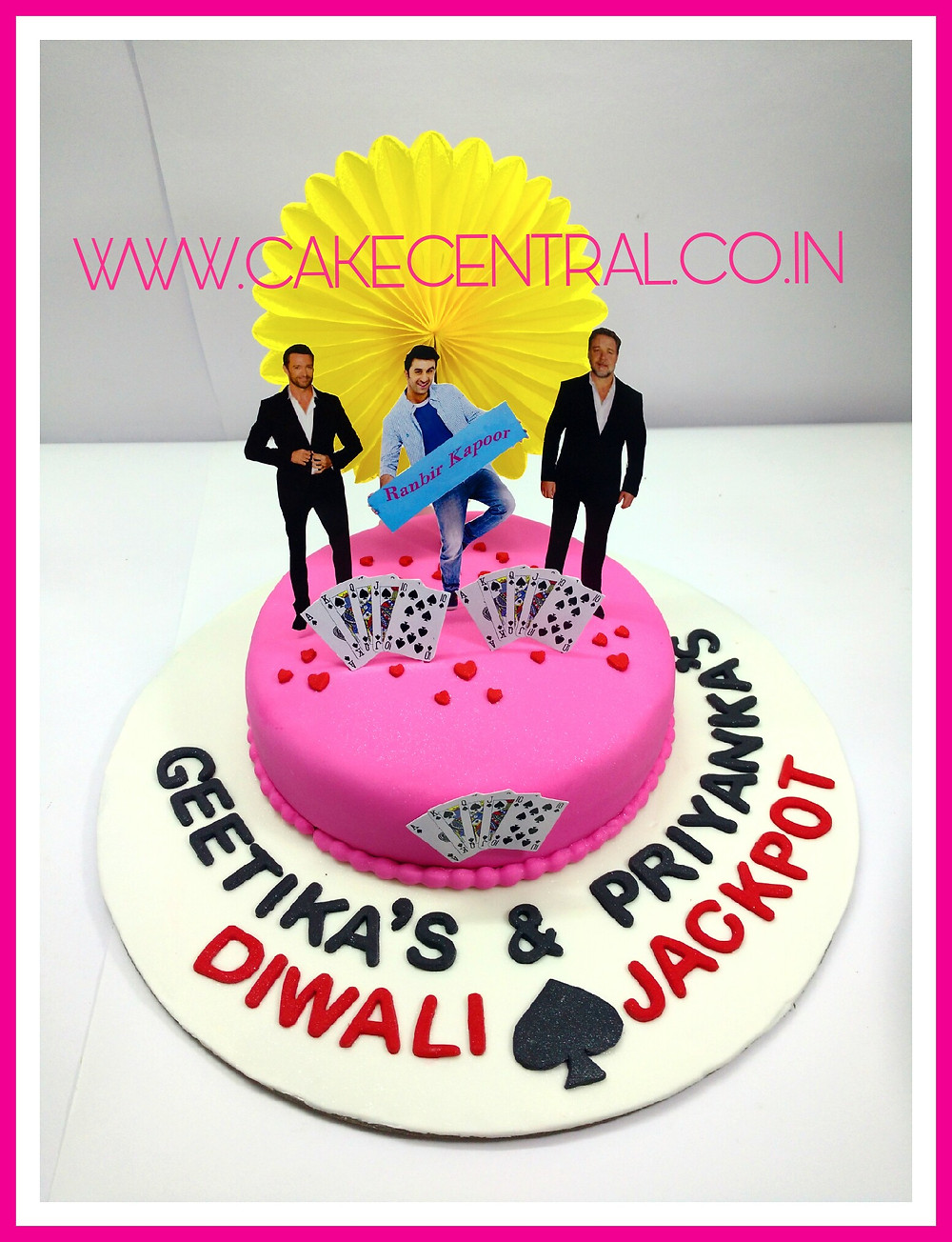 Bollywood themed cake, Designer Cakes , 3D Cakes , 4D Cakes for Cake Central Delhi Defence Colony . Ranbir Kapoor Cake , Cake Central Premier Cake Design Studio Defence Colony