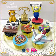 Personalised Cup Cakes of Cake Central Design Studio - 3D Cup Cakes in Delhi