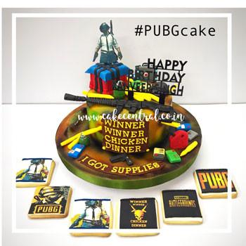 Pubg Cake - Pubg Cookies in Delhi Online