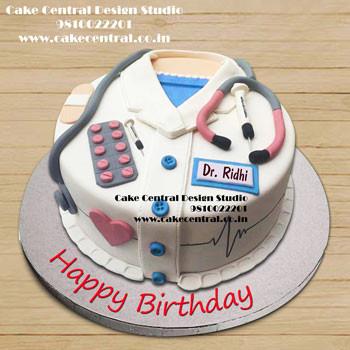 Male Doctor Cake Design - Doctor Cake in Delhi