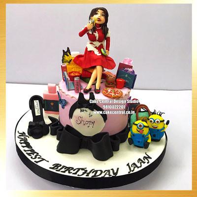 Born to Shop Birthday Cake Design Delhi