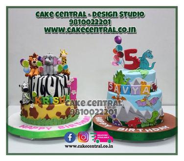 Animal & Dino theme Cake Delhi online for Kids Birthdays