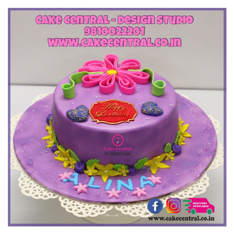 Flower Theme Cakes with Online Cake Delivery