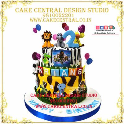 Jungle theme Zibra Cake in Delhi Online