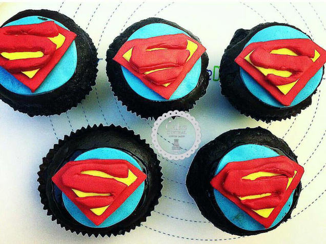 Superman Themed  Birthday CupCake By Cake Central - Premier Cake Design Studio . New Delhi