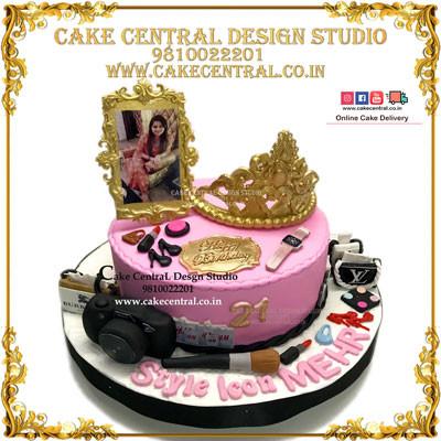 Princess Crown Cake for Girl Friend in Delhi Online