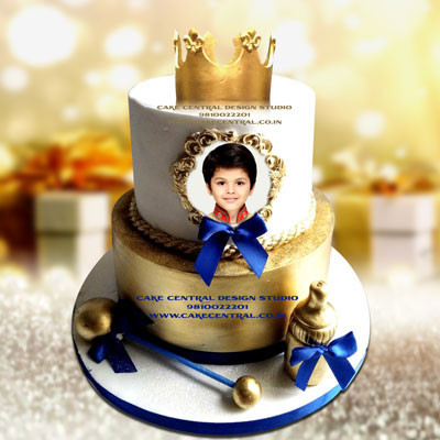 Baby Boy's Prince Cake First Birthday