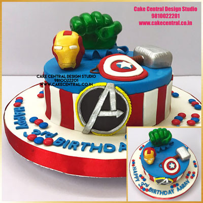 Avenger Super Hero Cakes Online in Delhi , Noida & Gurgaon