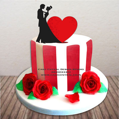 Romance & Love Heart Cakes in Delhi Online