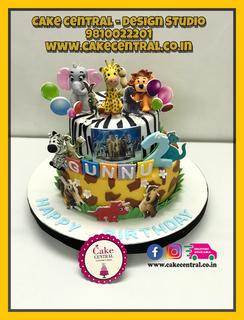 Jungle & Animal Cake for Kids Birthday Delhi