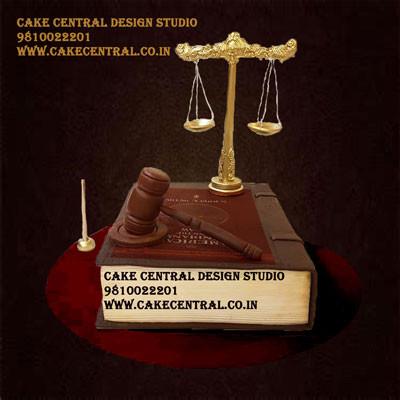 Lawyer Cake in Delhi Online - Law Book Cake Design