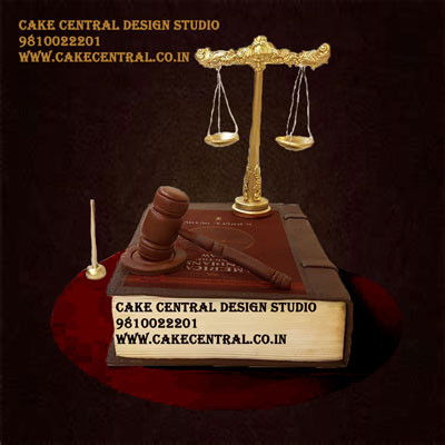 Lawyer Cake in Delhi Online - Law Book Cake Design