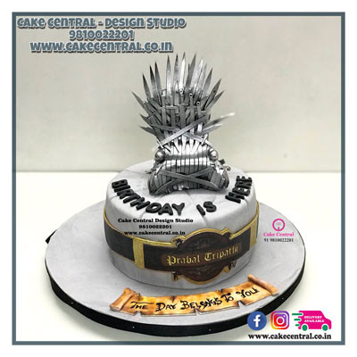 Iron Throne Cake_Winter is Coming_ Game of Thrones_Delhi_Online
