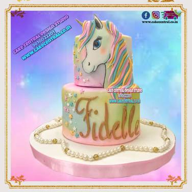 2 Tier Elegent Unicorn Cake in Delhi Online