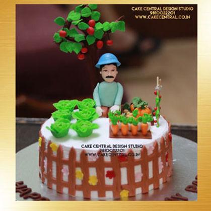 Garden Cake in Delhi Online for Father's Birthday